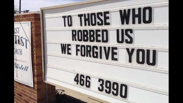 Church Offers Forgiveness to Thieves Who Robbed Them