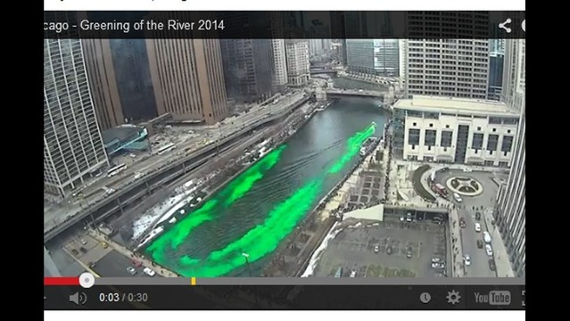 TIMELAPSE: Turning the Chicago River Green