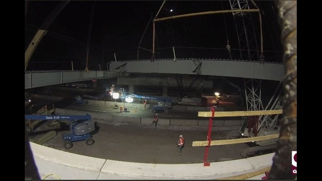TIME LAPSE: Watch the Don Tyson Parkway Interchange Girders Go Up