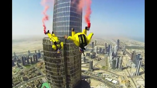 Watch: Dizzying Video of BASE Jumpers Leaping off World's Tallest Building