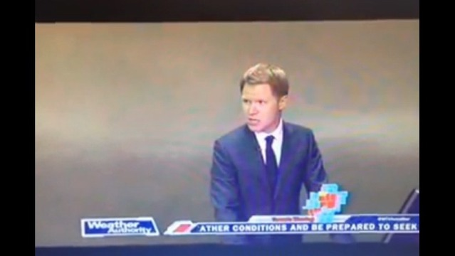 Tupelo Meteorologist Orders Staff to Take Cover from Tornado During Broadcast
