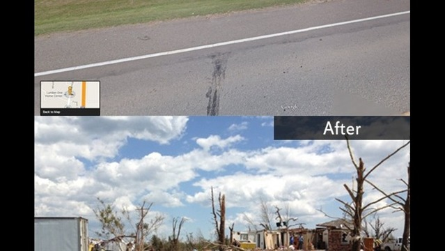 New Image Map Reveals New 'Before' & 'After' Pictures of Arkansas Tornado Damage