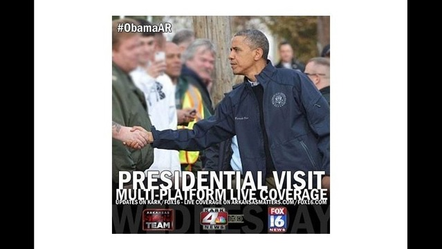 Watch LIVE:  President Obama Tours Arkansas Tornado Devastation