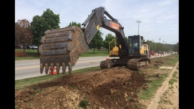 Razorback Road Construction Begins
