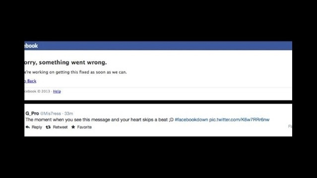 Facebook Message to Users, 'Sorry, Something Went Wrong'