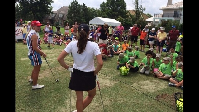 #NWAChampionship Pros Coach Kids at Junior Golf Clinic