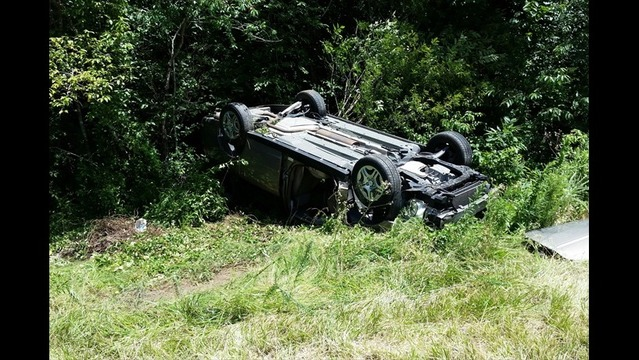 Rollover Accident Sends Driver to Hospital, Stalls Traffic