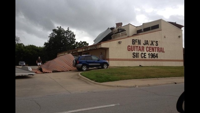 Severe Weather Rips Roof off NWA Guitar Shop