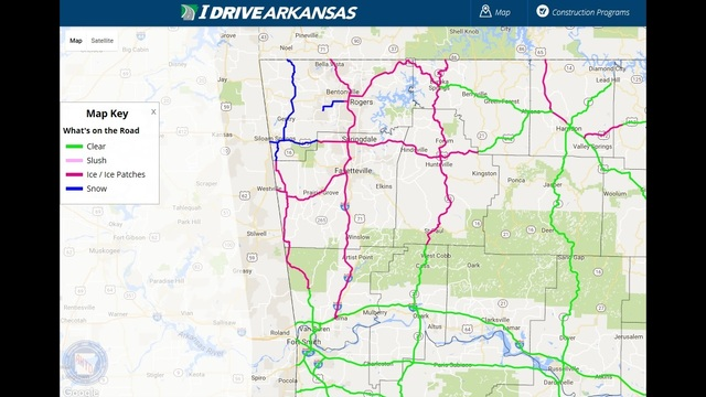 check road conditions across ar story northwest arkansas