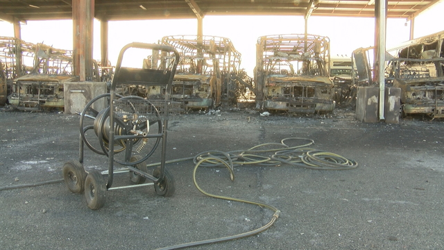 20 transit buses destroyed by fire in Springdale