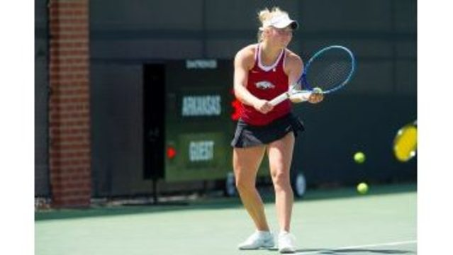 No. 14 Hogs Fall To No. 12 Auburn In Marathon Match