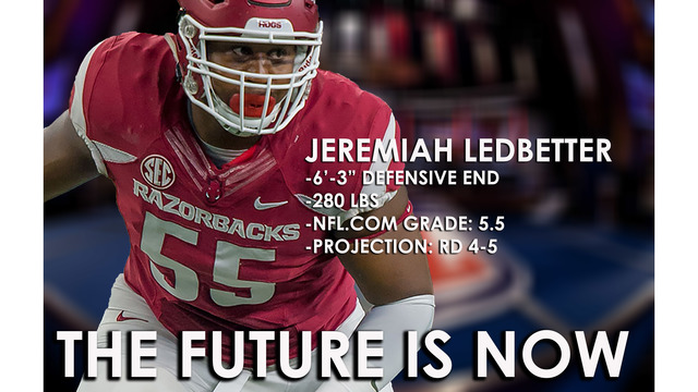 Jeremiah Ledbetter Drafted by Detroit Lions in 6th Round