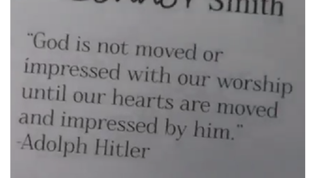 Adolf Hitler Quoted in Harding Academy Yearbook