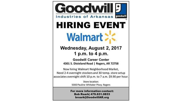 walmart hiring more than 30 associates northwest arkansas overnight jobs at walmart