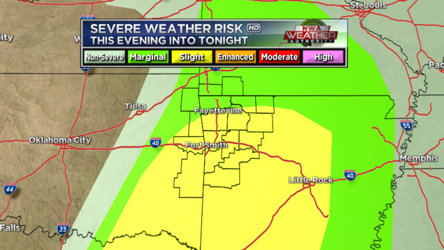 Strong to severe storms possible Tuesday morning