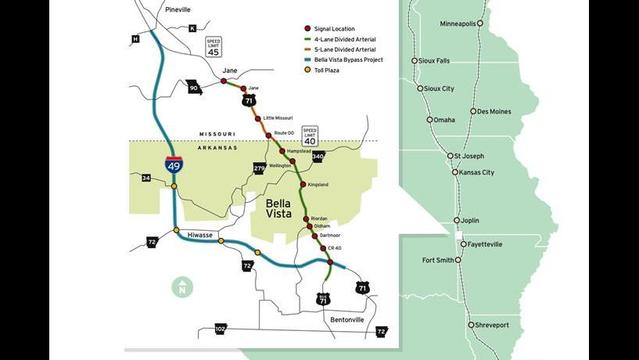 Bella Vista Bypass Will Stop South Of Missouri State Line