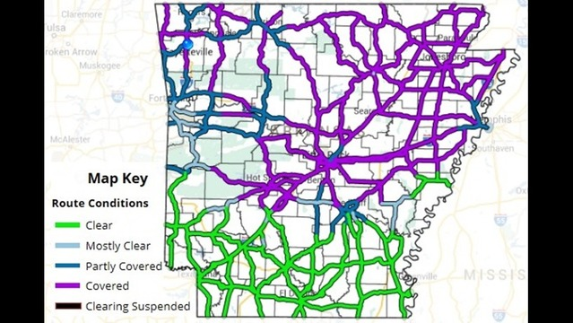 Check Road Conditions Across #NWArk & #Arkansas