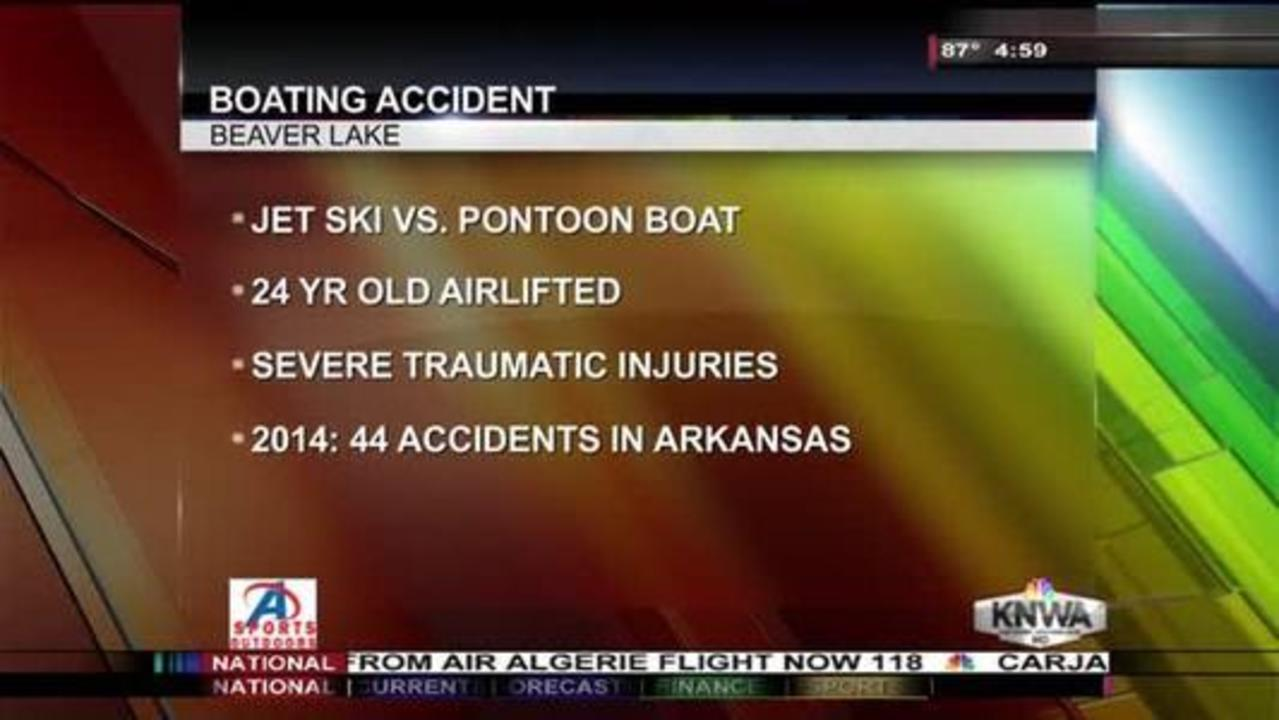 One Injured After Boat Collides with Jet Ski