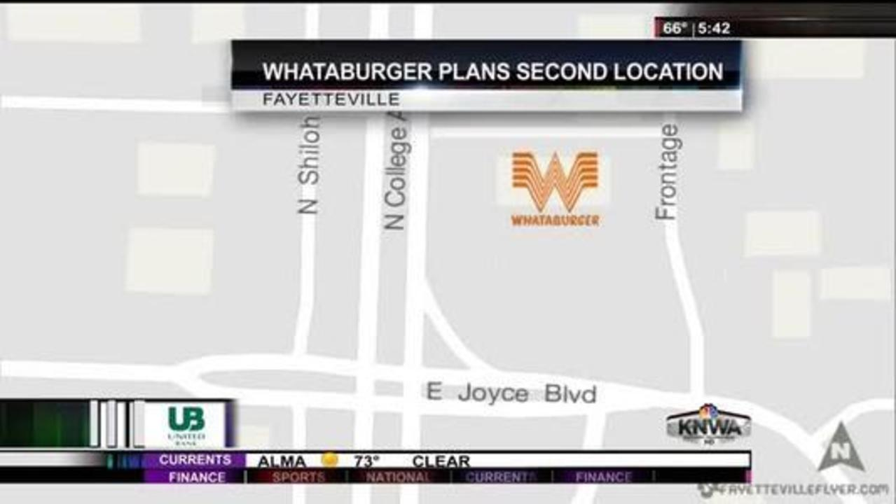 Second Whataburger Location in the Works