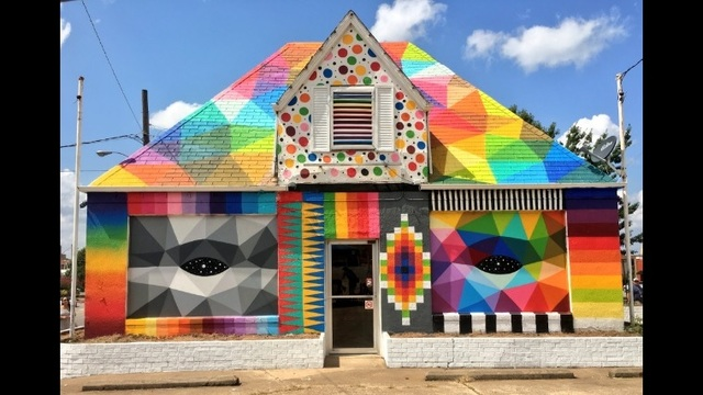 murals take shape in river valley nwa with unexpected project