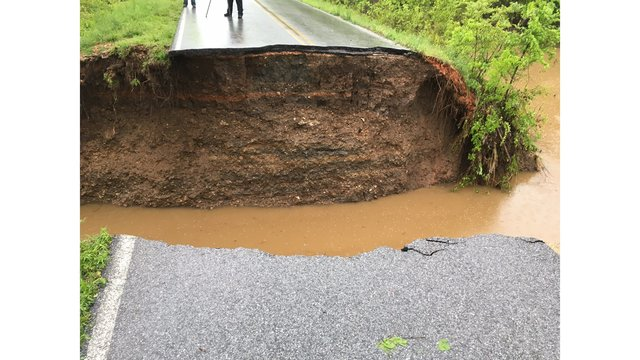 Flooding in Washington County Puts Hole In Road