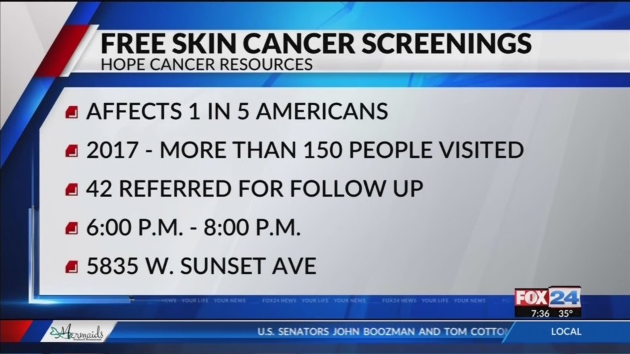 Hope Cancer Resources Offering Free Skin Cancer Screenings