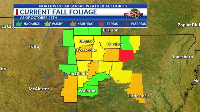 Colors On Weather Map.Weather Blog Update On The Fall Colors The Expected Peak