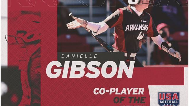 Gibson Named USA Softball Collegiate Co-Player of the Week