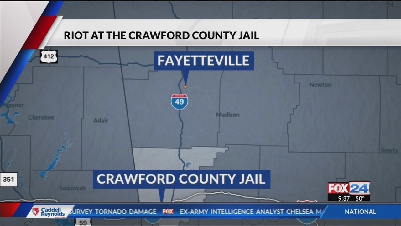 Crawford County Jail on Lockdown After Inmate Riot That Cause