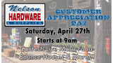 Nelson's Hardware's Customer Appreciation Day This Saturday!