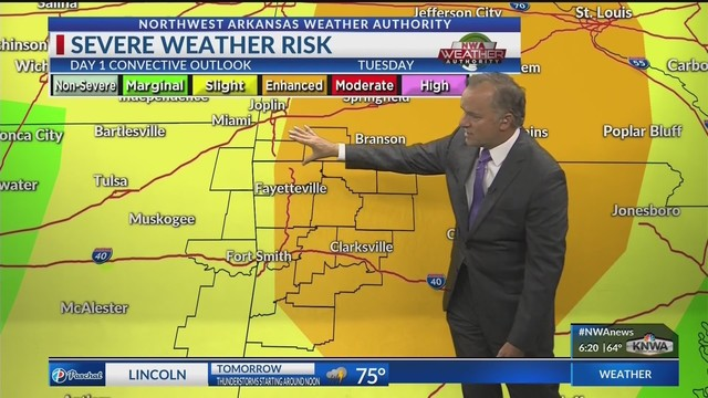 Tornado Watch issued for Western Arkansas and River Valley until noon