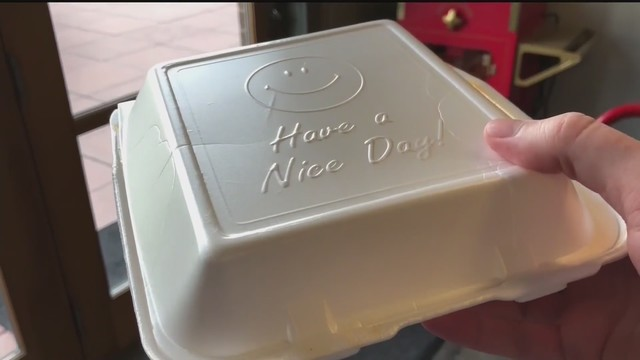 How will Fayetteville enforce the new polystyrene ban?